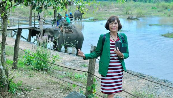 Chị Nguyễn Thị Hương luôn là một người phụ nữ lạc quan và vui vẻ