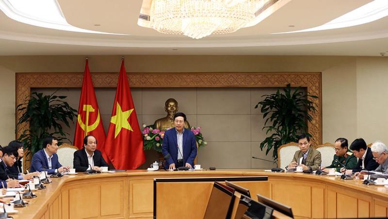 Phó Thủ tướng Chính phủ, Bộ trưởng Bộ Ngoại giao Phạm Bình Minh phát biểu tại cuộc họp