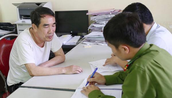 Lê Hải Châu tại cơ quan điều tra