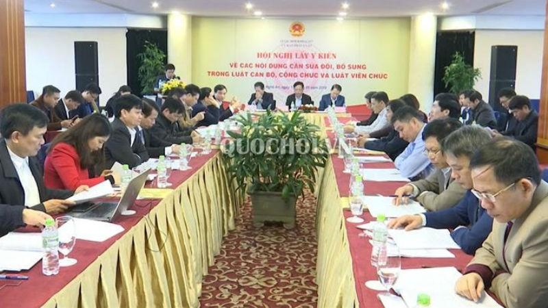 Hội nghị lấy ý kiến về các nội dung cần sửa đổi, bổ sung trong Luật Tổ chức Chính phủ tại Nghệ An hồi tháng 1/2019.