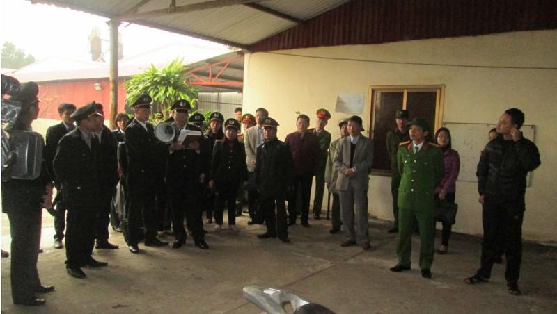 Cục THADS Ninh Bình tổ chức cưỡng chế THADS.