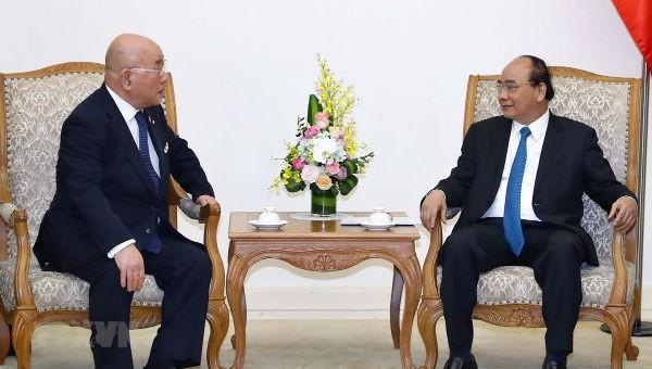 Thủ tướng Nguyễn Xuân Phúc và Cố vấn đặc biệt Nội các Nhật Bản Iijima Isao