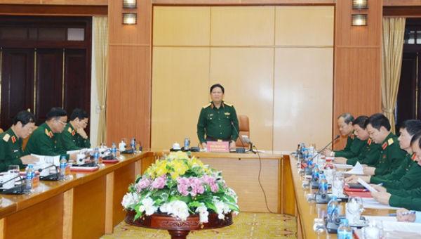 Đại tướng Ngô Xuân Lịch phát biểu kết luận hội nghị