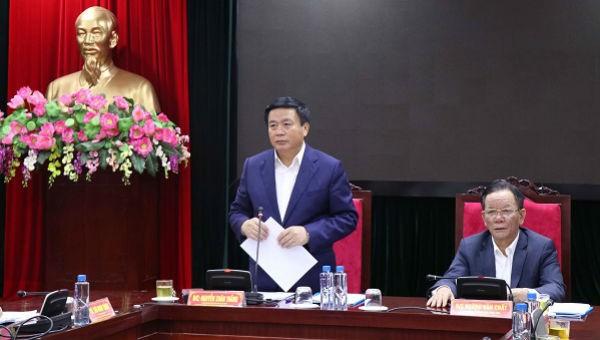 Ông Nguyễn Xuân Thắng phát biểu tại buổi làm việc