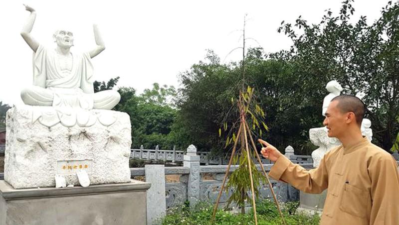 Đại đức Thích Thanh Khánh, trụ trì chùa Khánh Long nói về các pho tượng bị đập phá