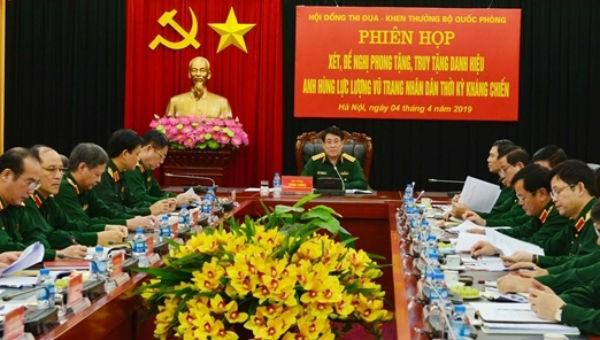 Bộ Quốc phòng: Họp xét, đề nghị phong tặng danh hiệu Anh hùng LLVT nhân dân