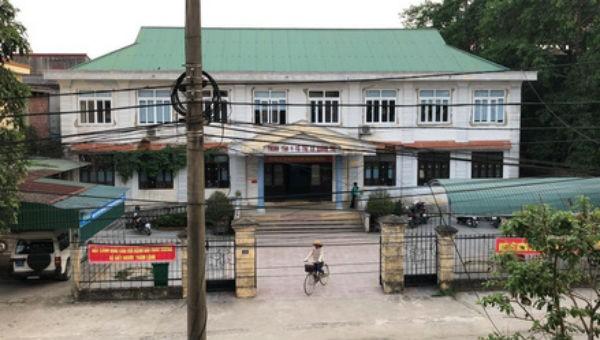 Trung tâm Y tế Thị xã Quảng Trị, nơi xảy ra vụ việc. Ảnh Người lao động