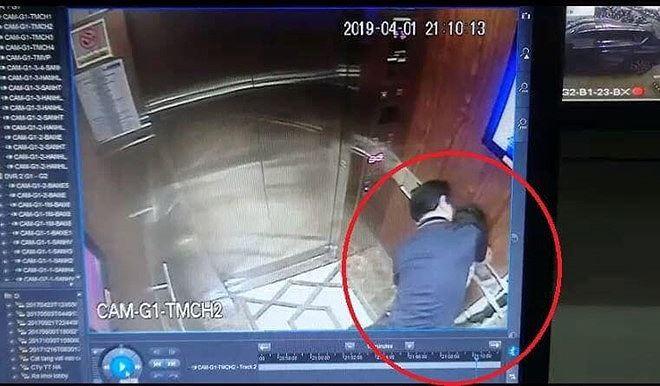 Hình ảnh nguyên Viện phó VKS sàm sỡ bé gái trong thang máy