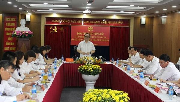 Bí thư Thành ủy Hoàng Trung Hải làm việc với Quỹ Đầu tư phát triển thành phố