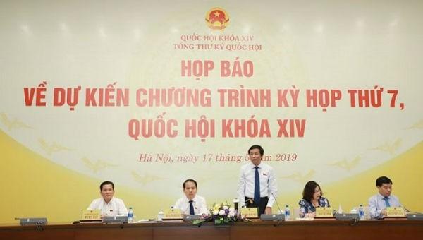 Tổng thư ký Quốc hội Nguyễn Hạnh Phúc thông tin về chương trình kỳ họp thứ 7