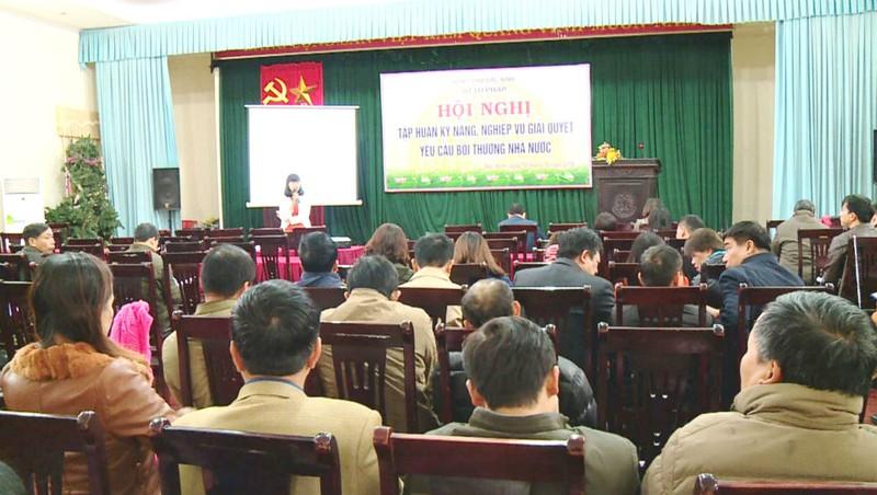 Một buổi tập huấn kỹ năng, nghiệp vụ giải quyết yêu cầu bồi thường nhà nước tại Bắc Ninh.
