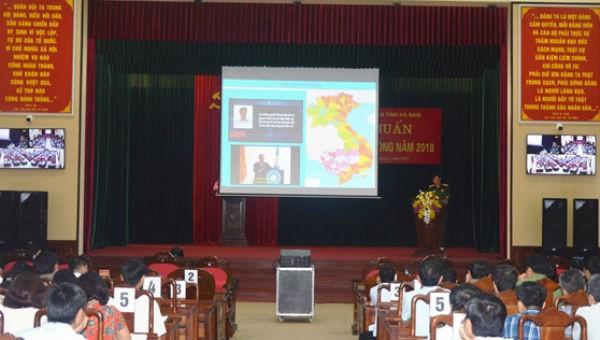 Tỉnh Hà Nam tập huấn Luật Quốc phòng năm 2018