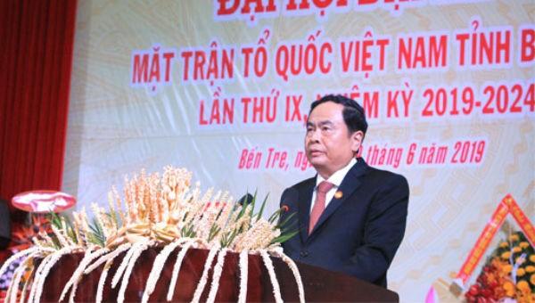 Chủ tịch Ủy ban Trung ương MTTQ Việt Nam Trần Thanh Mẫn phát biểu chỉ đạo tại Đại hội