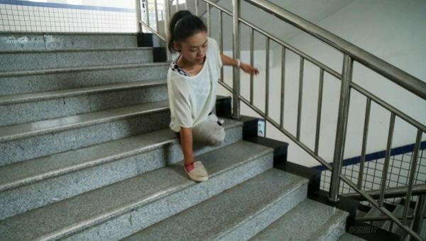 Hình ảnh về cô gái nhỏ Vương Quyên.