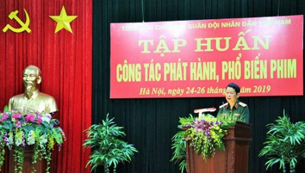 Thiếu tướng Nguyễn Văn Tín phát biểu khai mạc Hội nghị