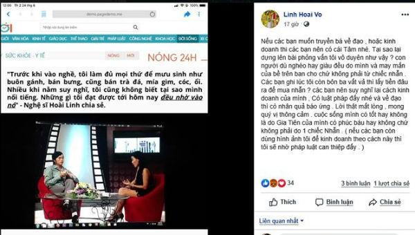 Nghệ sĩ Hoài Linh bức xúc vì tên tuổi bị sử dụng trong quảng cáo nhẫn phong thủy