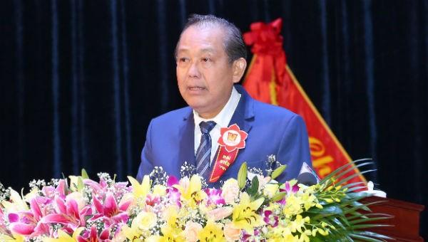 Phó Thủ tướng Thường trực Chinh phủ Trương Hòa Bình phát biểu tại Lễ kỷ niệm