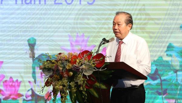 Phó Thủ tướng Trương Hòa Bình phát biểu tại buổi lễ