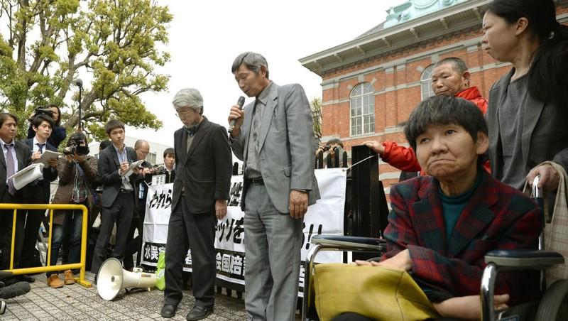 Một số nạn nhân bị bệnh Minamata