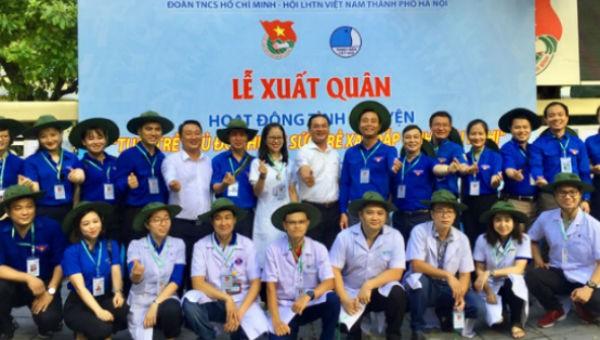 Đoàn tình nguyện của tuổi trẻ Thủ đô tại lễ xuất quân năm 2019