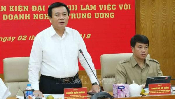Ông Nguyễn Xuân Thắng chủ trì buổi làm việc
