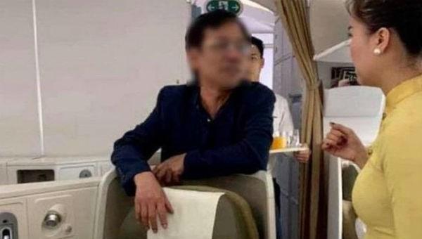 Ông Vũ Anh Cường bị trục xuất khỏi máy bay bởi có hành vi sàm sỡ và nồng độ cồn cao. (Ảnh minh họa)