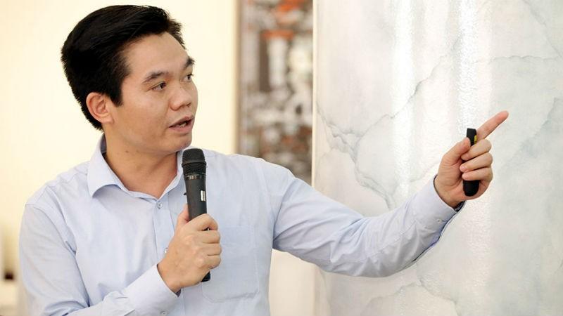 Ông Phạm Trường Giang, Vụ trưởng Vụ Bảo hiểm xã hội, Bộ Lao động – Thương binh và Xã hội phát biểu tại Hội thảo