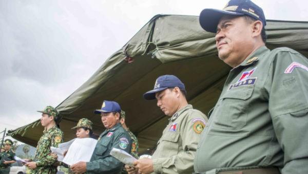 Lực lượng Cảnh sát Campuchia thống nhất với BĐBP về diễn tập liên hợp đánh bắt tội phạm ma túy.