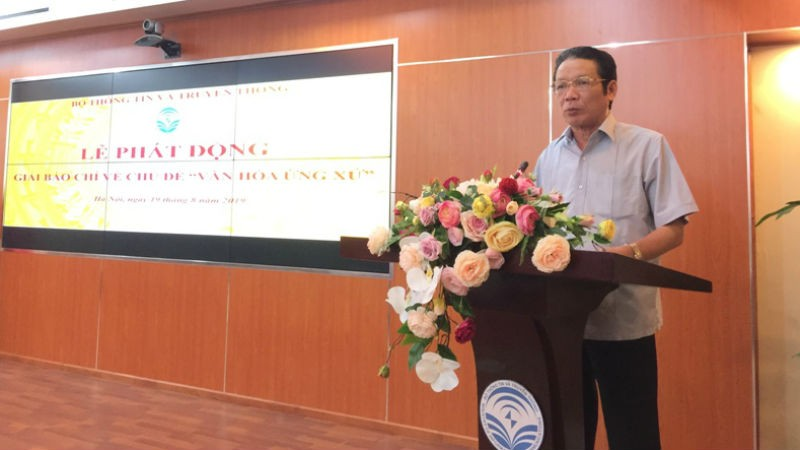 Thứ trưởng Hoàng Vĩnh Bảo phát biểu tại lễ phát động.