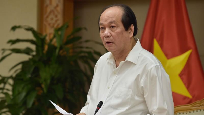 Bộ trưởng, Chủ nhiệm Văn phòng Chính phủ  Mai Tiến Dũng, Tổ trưởng Tổ công tác của  Thủ tướng phát biểu tại buổi làm việc.