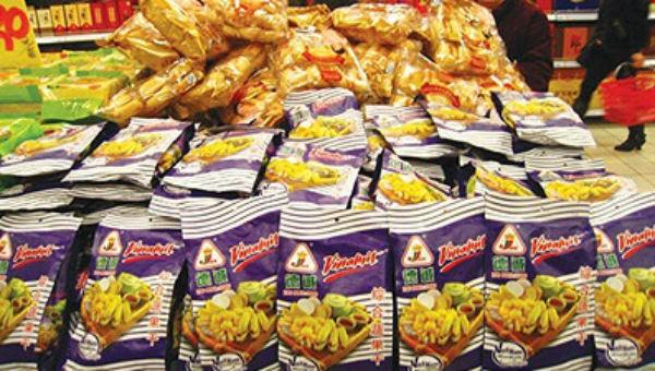 Sản phẩm Vinamit trong một siêu thị ở Trung Quốc.