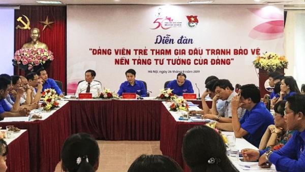 Đảng viên trẻ đấu tranh bảo vệ nền tảng tư tưởng của Đảng