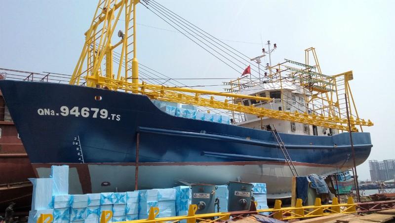 Một con tàu vỏ thép 67 tại Quảng Nam.