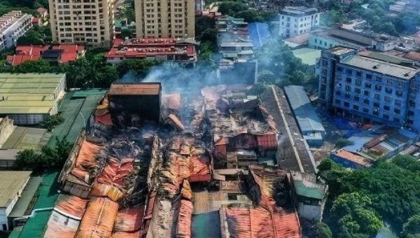 Khu vực xảy ra hỏa hoạn