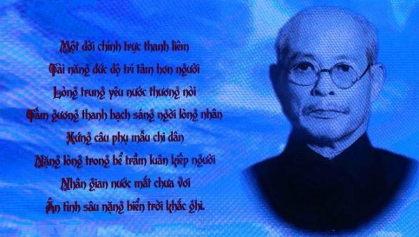 Trưởng Ban Thường trực Quốc hội Bùi Bằng Đoàn với tài năng và kinh nghiệm dày dạn của mình, đã luôn bên cạnh Chính phủ, bên cạnh Chủ tịch Hồ Chí Minh để dốc toàn bộ sức lực phụng sự Tổ quốc, phụng sự nhân dân... (Ảnh: TTXVN).