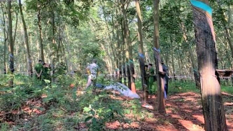 HIện trường phát hiện thi thể nạn nhân. Ảnh: Nguyễn Long.
