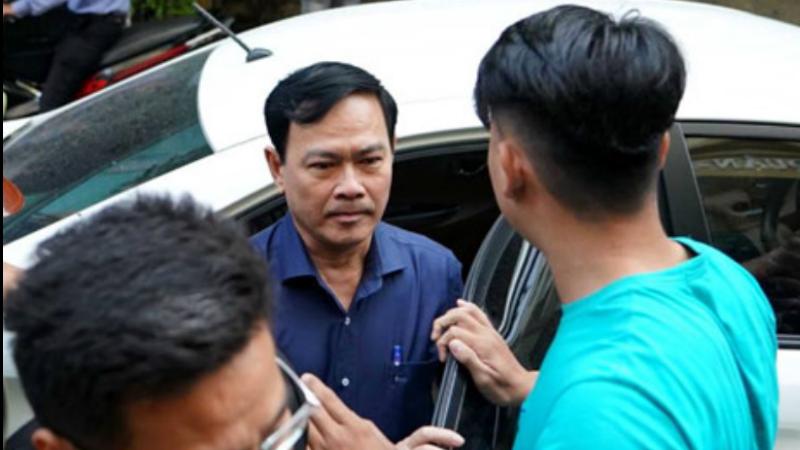 Bị cáo Nguyễn Hữu Linh đến tòa xét xử sơ thẩm lần 2 ngày 23/8
