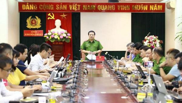 Trung tướng Phạm Văn Các, Cục trưởng CSĐT tội phạm về ma túy tại cuộc họp báo.