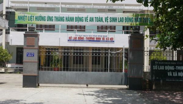 Sở LĐ-TB&XH Bình Định- nơi ông Ân từng công tác
