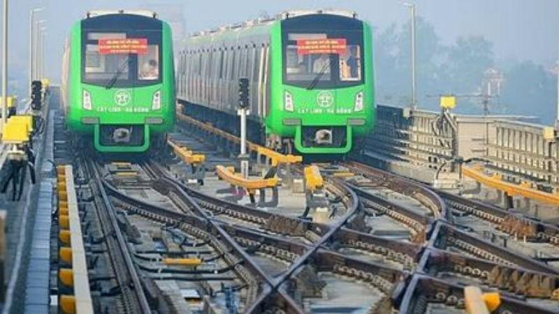 Ngổn ngang Dự án đường sắt Cát Linh – Hà Đông.