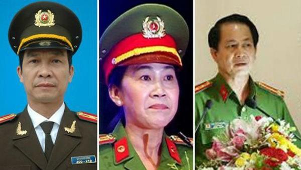 Từ trái sang: đại tá Lý Quang Dũng, đại tá Trần Thị Ngọc Thuận và đại tá Nguyễn Văn Kim