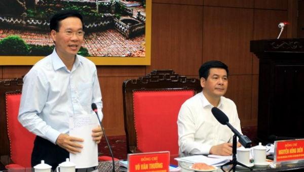 Đoàn Kiểm tra của Bộ Chính trị làm việc với Ban Thường vụ Tỉnh ủy Thái Bình