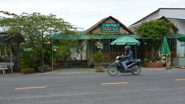 Quán cafe nơi xảy ra án mạng.