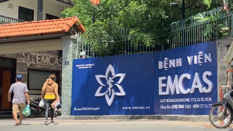 Bệnh viện thẩm mỹ EMCAS nơi xảy ra vụ việc. Ảnh Zing.