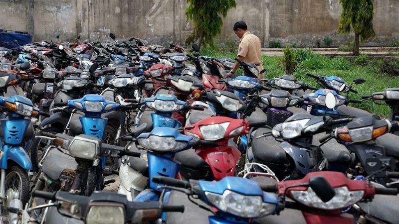 Đề xuất xử lý tình trạng phương tiện vi phạm giao thông tồn đọng
