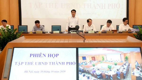 Chủ tịch UBND thành phố Nguyễn Đức Chung chủ trì phiên họp