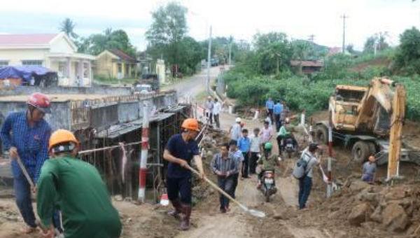 Nỗ lực khắc phục hậu quả do mưa bão