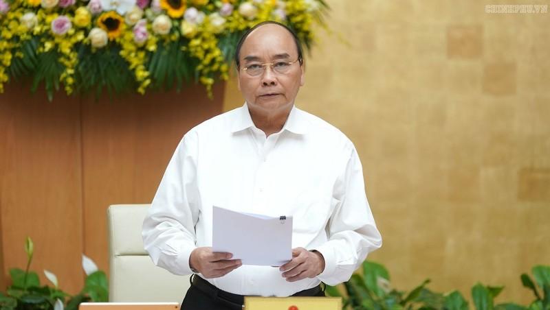 Thủ tướng Nguyễn Xuân Phúc phát biểu tại phiên họp thường kỳ Chính phủ tháng 10.