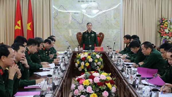 Tổng cục Chính trị kiểm tra tại Bộ CHQS tỉnh Lào Cai