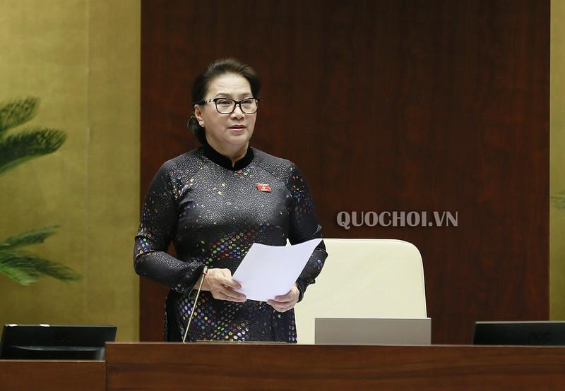 Chủ tịch Quốc hội Nguyễn Thị Kim Ngân phát biểu kết luận phiên chất vấn.
